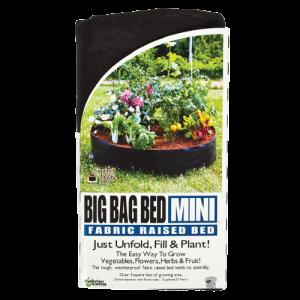 Smart Pots Big Bag Bed Mini Jardinière surélevée en tissu  – Noir