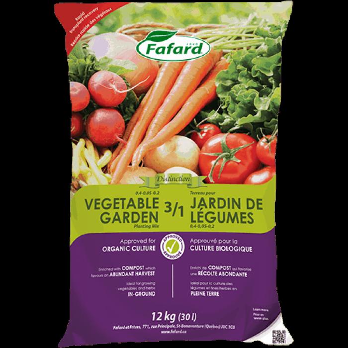 FAFARD Terreau 3 dans 1 Jardin de Légumes  (30L)
