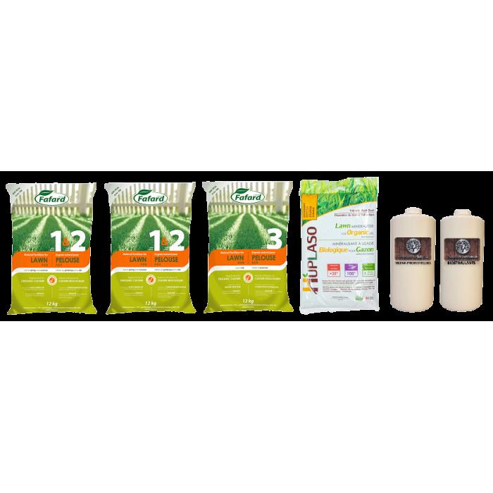 Trousse fertilisation 100% naturel pour pelouse
