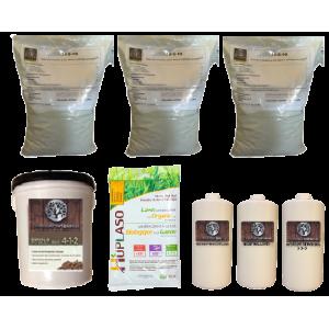 Trousse Or fertilisation Bio &  à base organique pour pelouse