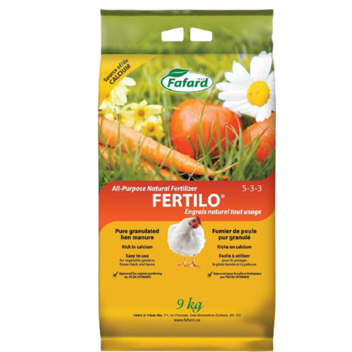Engrais Fafard granulé tout usage FERTILO 9kg
