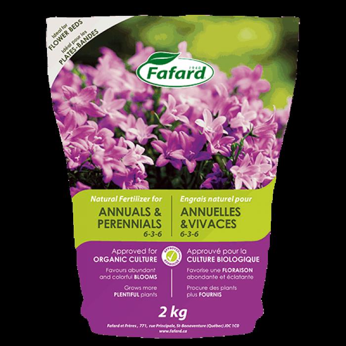 Engrais naturel FAFARD pour ANNUELLES & VIVACES (2KG)