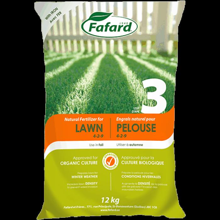 Fafard engrais naturel pour Pelouse automne (12KG)