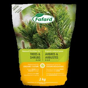 BoutiqueHortiplan.ca | Engrais naturel FAFARD  pour ARBRES & ARBUSTES (2KG)