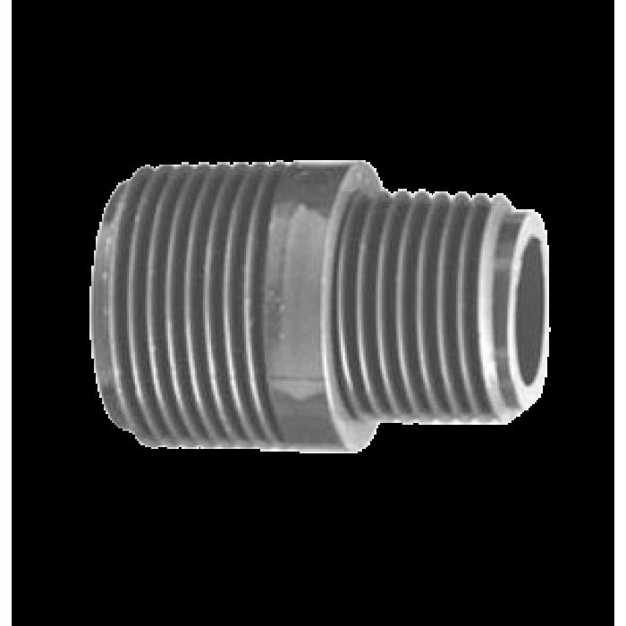 Lasco / Dura Mamelon réducteur ½ X ¾ PVC Fileté MPT deux cotés / Nipples ½ X ¾ MPT Threaded Both Ends