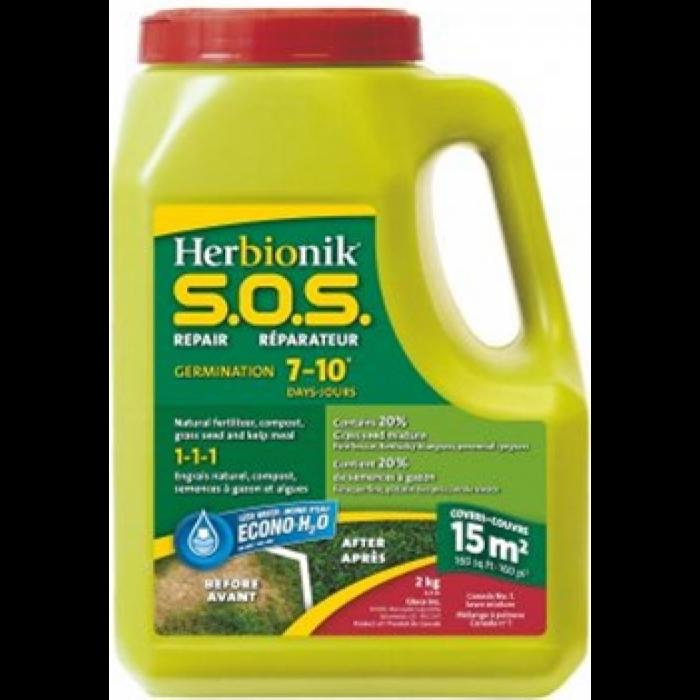Réparation pelouse Gloco Herbionik SOS Germination Rapide (2KG)