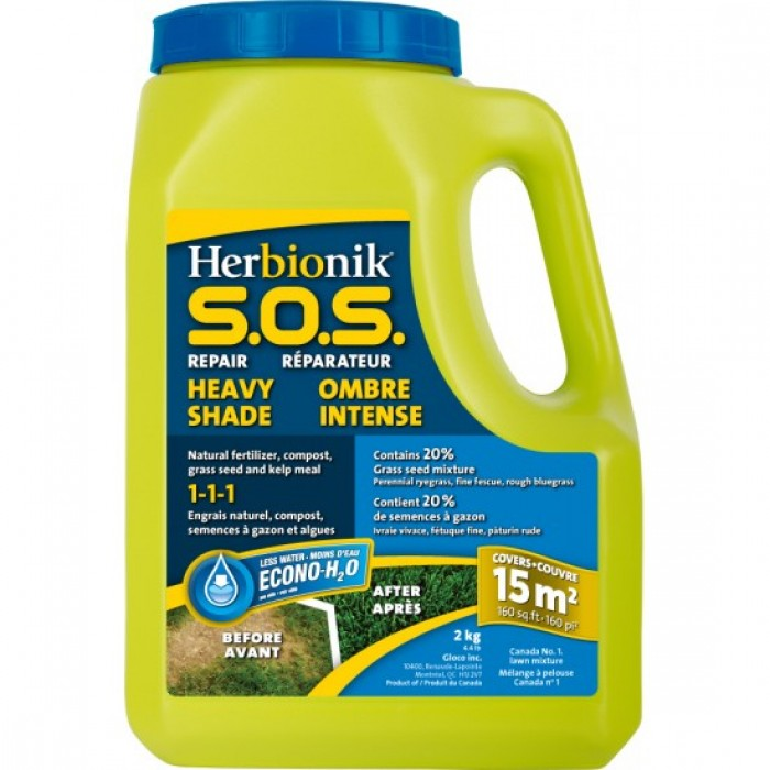 Réparation pelouse Gloco Herbionik S.O.S. Ombre Intense (2KG)